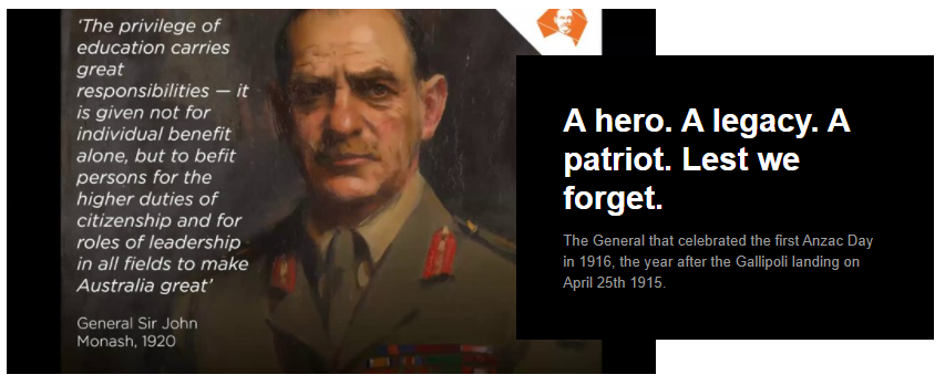 A hero. A legacy. A patriot. Lest we forget.